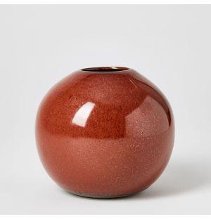 Ball Vase Rust Small