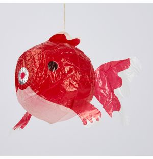Japanese Paper Balloon Red Fish