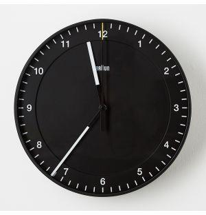 Classic Analogue Wall Clock Black
