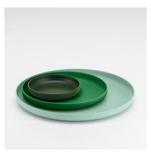 Round Trays Green Set of 3