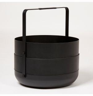 Emma Wood Basket Noir