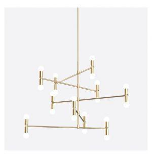 Dot 14 A Pendant Light Brass
