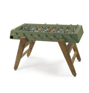 RS3 Iroko Wood Outdoor Football Table