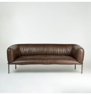 Rondo 2-Seater Sofa Mocca Leather Ex-Display