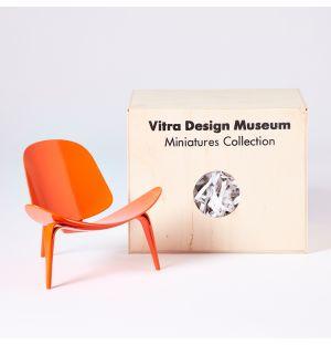 Miniature 3-Legged Shell Chair