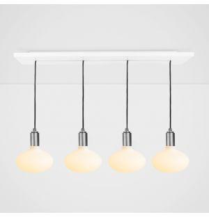 Oval Pendant Light Set Graphite