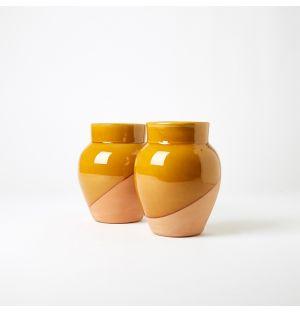 Motif Vase in Yellow 18cm