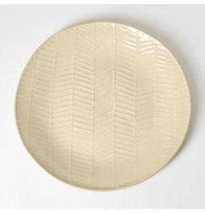 Herringbone Dinner Plate Natural 28cm