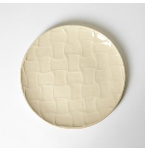 Weave Side Plate Natural 19cm