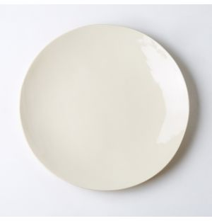 Earthenware Dinner Plate Milk 29.5cm