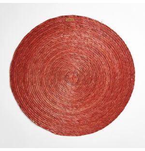 Round Placemat Terracotta 38cm