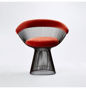 Platner Side Chair Metallic Bronze & Eva Velvet