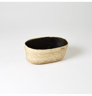 Oval Basket Carbon & Natural Small