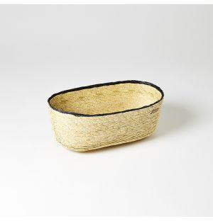 Rim Oval Basket Carbon & Natural Medium