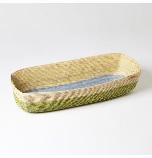 Rectangular Basket Green, Blue & Natural Extra-Large