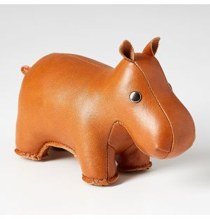 Hippo Paperweight in Tan