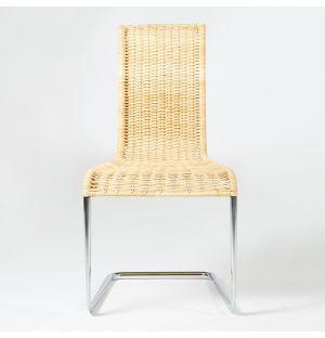 B20 Chair Chromed Steel & Natural Cane