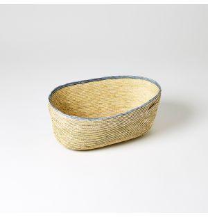 Oval Basket Blue & Natural Medium