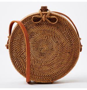 Rattan Rose Bag