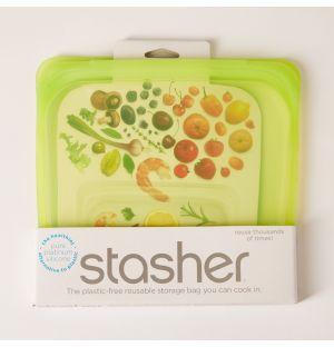 Reusable Silicone Sandwich Bag Lime