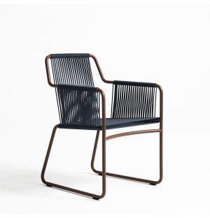 HARP 359 Armchair in Rust & Blue