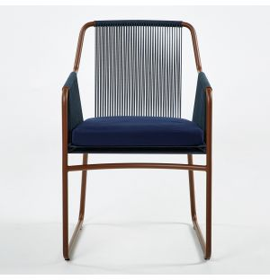 HARP 359 Armchair Rust & Blue