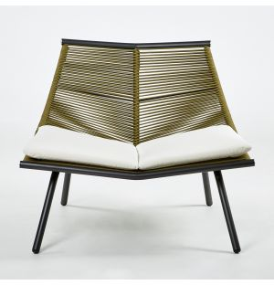 LAZE 001 Lounge Chair Smoke & Olive