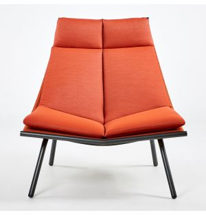 LAZE 002 Lounge Chair Smoke & Orange