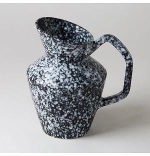 Relief Vase in Black Stone