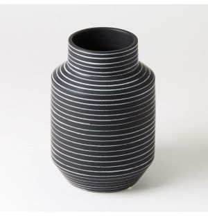 Medium Capitello Vase in White Stripe
