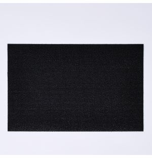 Shag Solid Doormat Black
