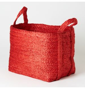 Square Basket Red Small