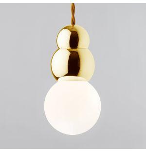 Ball Pendant Light with Flex Brass Large