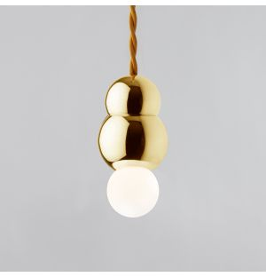 Ball Pendant Light with Flex Brass Small