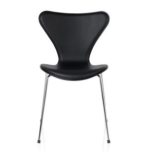 Series 7 3107 Chair Soft Leather Front Black