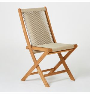 Folding Rope Chair in Teak