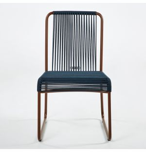 HARP 749 Side Chair Rust & Blue