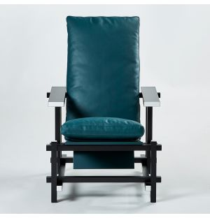 Limited Edition 635 Chair Black, Green & White
