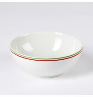 Canteen Stripe Cereal Bowl Green & Red