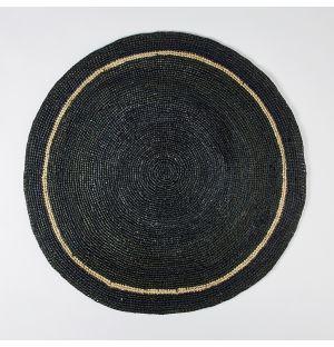Circular Placemat Black & Natural 60cm
