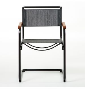 S 34 Chair with Armrests Black