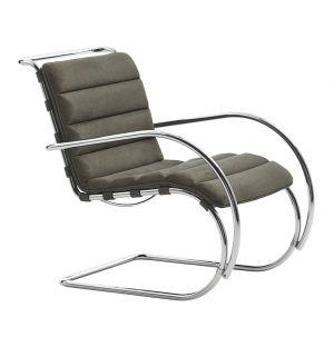 Bauhaus Edition MR Armchair Velour Suede