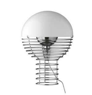 Wire Table Lamp White Small