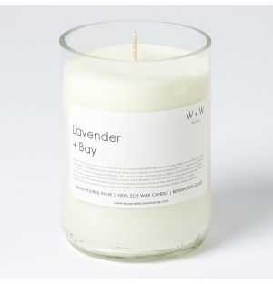 Lavender & Bay Leaf Scented Candle