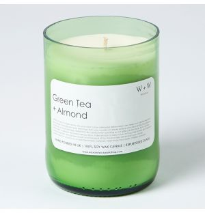 Green Tea & Almond Scented Candle