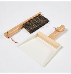 Dustpan & Brush White