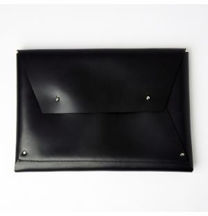 Leather Wrap Sleeve Black
