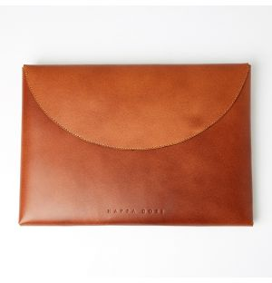 Leather Wrap Sleeve Tan