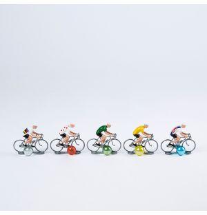 Miniature Cyclists Set of 5