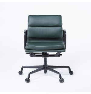 EA217 Soft Pad Office Chair Black Base & Jade Leather